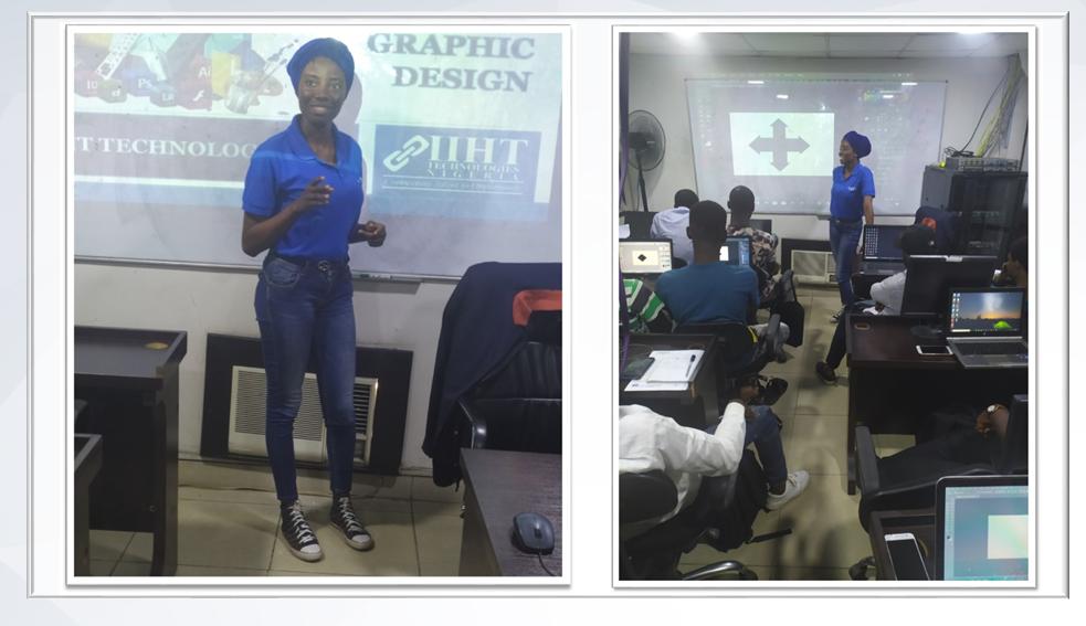 Joe hosts graphic design workshop at IIHT